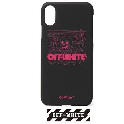 Off-White スマホケース・テックアクセサリー 【Off-White】ロゴ プリント iPhone X case