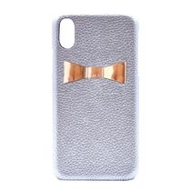 enchanted.LA -RIBBON PLATE LEATHER iPhone Case SV×Rose Gold