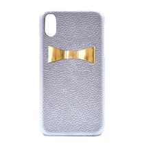 enchanted.LA - RIBBON PLATE LEATHER iPhone Case Silver×Gold