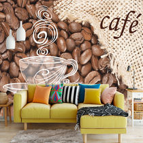 注文制作壁紙 Customizing Mural Wallpaper_coffee time