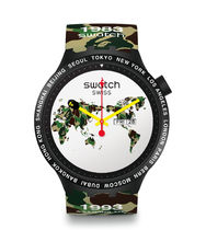 送料無料!BAPE X SWATCH BIG BOLD WORLD