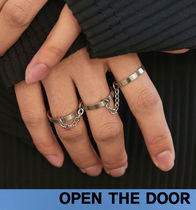 OPEN THE DOOR   3 Set Chain Silver Ring   s352