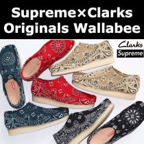 コラボ★ペイズリー柄 Supreme×Clarks Originals Wallabee 4色
