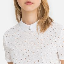 Broderie Anglaise Peter Pan Collar Cotton Blouse