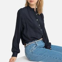 LA Redoute(ラルドゥート) ブラウス・シャツ パリ発!La Redoute Round Neck Long-Sleeved Shirt