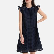 La Redoute Cotton Broderie Anglaise Ruffled Shift Dress