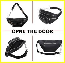 【OPEN THE DOOR】Leather zipper hip sack★日本未入荷
