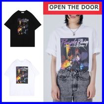 [OPEN THE DOOR]  purple rain 1/2 T (2 color) -UNISEX/追跡付