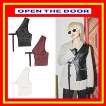 [OPEN THE DOOR]   layered half vest (3 color)-UNISEX /追跡付