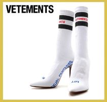 VETEMENTS★logo socks high heel boots white【謝恩品EMS】