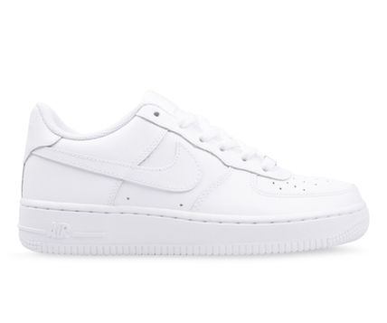 Nike キッズスニーカー 大人もOK 【NIKE】Nike Air Force 1 Low GS ☆ALL WHITE(4)