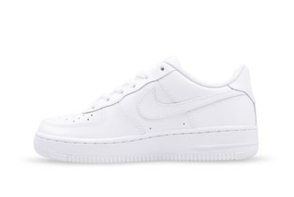 Nike キッズスニーカー 大人もOK 【NIKE】Nike Air Force 1 Low GS ☆ALL WHITE(5)