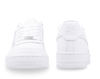 Nike キッズスニーカー 大人もOK 【NIKE】Nike Air Force 1 Low GS ☆ALL WHITE(6)