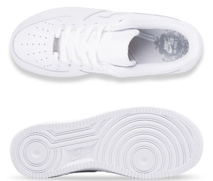 Nike キッズスニーカー 大人もOK 【NIKE】Nike Air Force 1 Low GS ☆ALL WHITE(7)