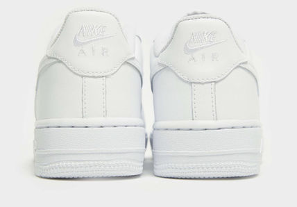 Nike キッズスニーカー 大人もOK 【NIKE】Nike Air Force 1 Low GS ☆ALL WHITE(8)