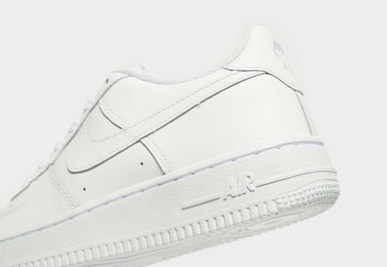 Nike キッズスニーカー 大人もOK 【NIKE】Nike Air Force 1 Low GS ☆ALL WHITE(9)
