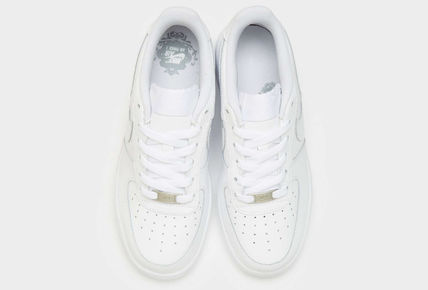Nike キッズスニーカー 大人もOK 【NIKE】Nike Air Force 1 Low GS ☆ALL WHITE(10)