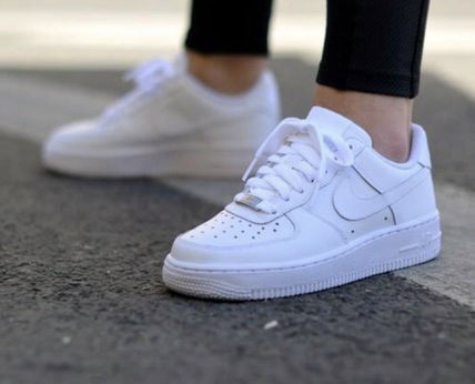Nike キッズスニーカー 大人もOK 【NIKE】Nike Air Force 1 Low GS ☆ALL WHITE(13)