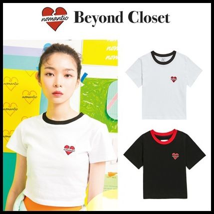 beyond closet Tシャツ・カットソー ☆beyond closet☆ NOMANTIC SIGNATURE LOGO CROP T-SHIRTS 2色