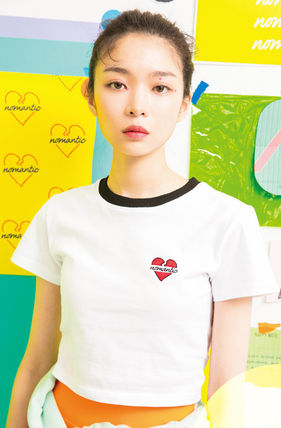 beyond closet Tシャツ・カットソー ☆beyond closet☆ NOMANTIC SIGNATURE LOGO CROP T-SHIRTS 2色(9)