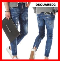 関税負担★人気【DSQUARED2】★FLOWER PATCH SEXY TWIST JEAN★