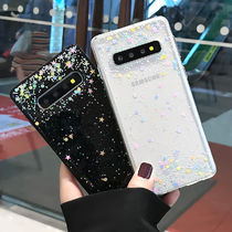 GalaxyS10 10+ Note9 Note8ケース クリア 透明 カラフル星 個性