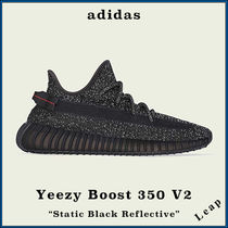 "【adidas】限定 Yeezy Boost 350 V2 ""Static Black Reflective"""
