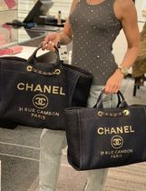 2019 Pre-Fall 店頭入荷★CHANEL★Deauville tote in Navy/gold