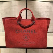 2019 Pre-Fall 店頭入荷★CHANEL★Deauville tote in red