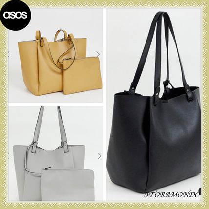 46bfdcb4fe ASOS(エイソス) トートバッグ 【送関込】 ☆ASOS DESIGN☆ タブレット