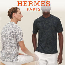 HERMES エルメス*19SS*総柄 半袖 Etriers プリント Tシャツ 2色