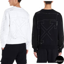 関税込OffWhite 2019AW DIAG UNFINISHED SLIM スウェット ロゴ