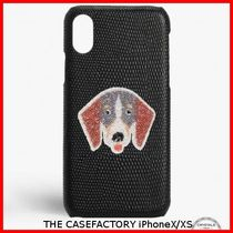 関税送料込☆THE CASEFACTORY☆IPHONE X/XS SWAROVSKI DOG TAX
