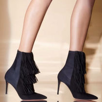 AQUAZZURA★VIP SALE!Shake Stretch スエード ブーティー 85