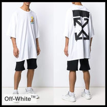 【Off-White】oversized bart peace T-shirt OMAA066S19185034
