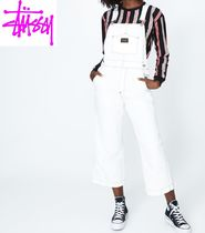 【STUSSY】ホワイトオーバーオールWellington Wide Leg Overall