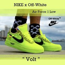 """[Off-White x Nike] Air Force 1 Low """"Volt"""" FW 18  AO4606-700"""