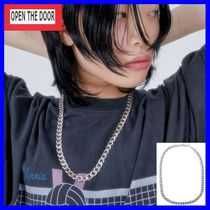 [OPEN THE DOOR]  silver chain necklace /追跡付