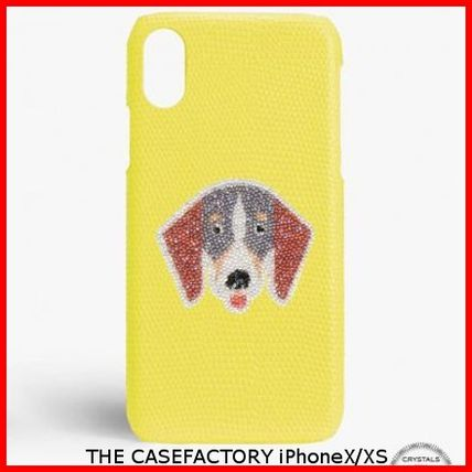 THE CASE FACTORY スマホケース・テックアクセサリー 関税送料込☆THE CASEFACTORY☆IPHONE X/XS SWAROVSKI DOG TAX