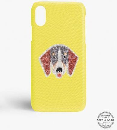 THE CASE FACTORY スマホケース・テックアクセサリー 関税送料込☆THE CASEFACTORY☆IPHONE X/XS SWAROVSKI DOG TAX(2)
