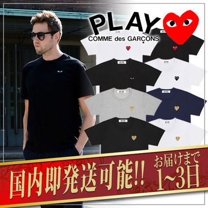 COMME des GARCONS Tシャツ・カットソー 1-3日着/追跡【即発】COMME des GARCONS ハートロゴ カットソー