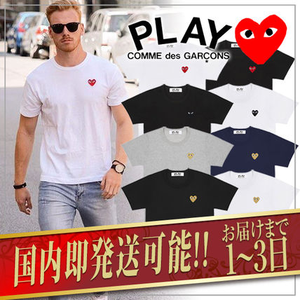 COMME des GARCONS(コムデギャルソン) Tシャツ・カットソー 1-3日着/追跡【即発】COMME des GARCONS ハートロゴ カットソー