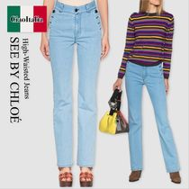 See by chloe high-waisted jeans