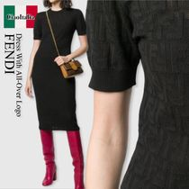 Fendi dress with all-over logo