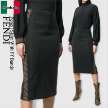 Fendi pencil skirt with ff bands