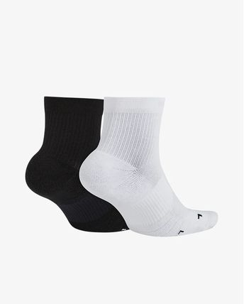 Nike 靴下・ソックス NIKE SX7556-906 2P MULTIPLIER ANKLE SOCKS MULTI(2)