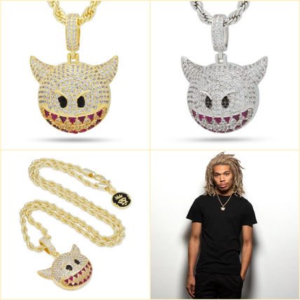 King Ice ネックレス・チョーカー 送料関税込【King Ice】Devil Emoji ネックレス☆国内発送(2色)