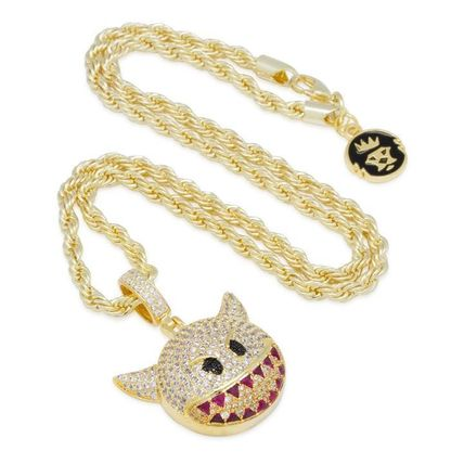 King Ice ネックレス・チョーカー 送料関税込【King Ice】Devil Emoji ネックレス☆国内発送(2色)(5)