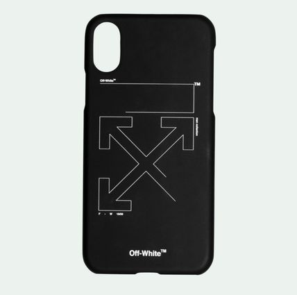 Off-White スマホケース・テックアクセサリー 【関税込】OFF WHITE◆UNFINISHED アローズ ロゴ  iPhone XS MAX