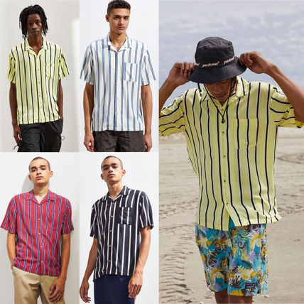 a9d162312 Urban Outfitters シャツ ☆UO Sport Striped Rayon SS Button Down Shirt シャツ☆ ...